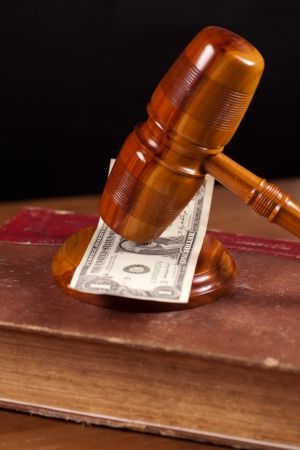 judge gavel  and money photo