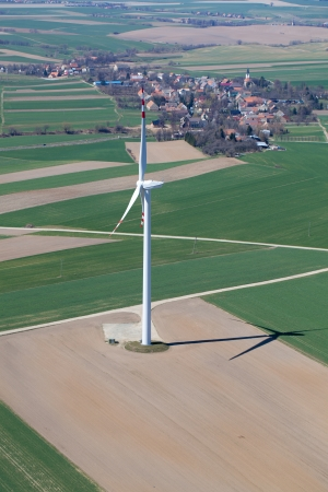 wind turbine aerial view