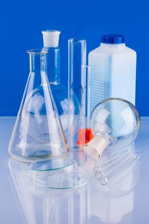 volumetric flask:  laboratory equipment Stock Photo