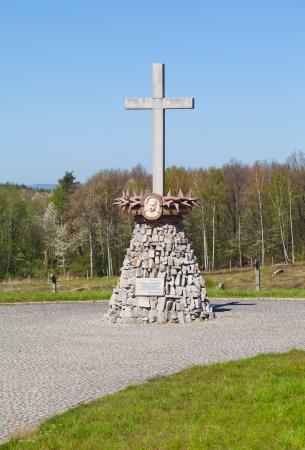 Gross-rosen concencration camp - memorial cross photo
