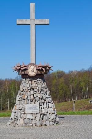 Gross-rosen concencration camp - memorial cross Stock Photo - 13874112