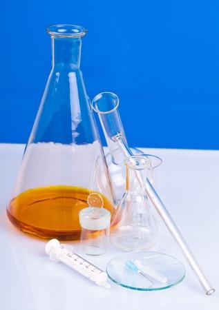 syringe and laboratory equipment photo