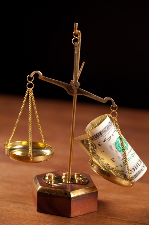 scales and money Stock Photo