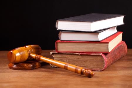 judge gavel  and books photo