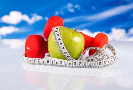 Fitness Hanteln und Apple