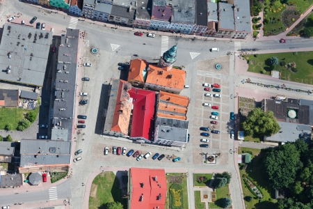 aerial view of Otmuchow city center  photo