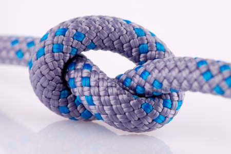 blue rope knot Stock Photo - 13766870