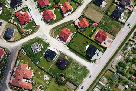 aerial view of nysa city suburbs Stock Photo - 15454292