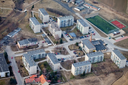 Otmuchow city suburbs aerial view  photo