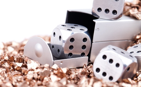 metal dice photo