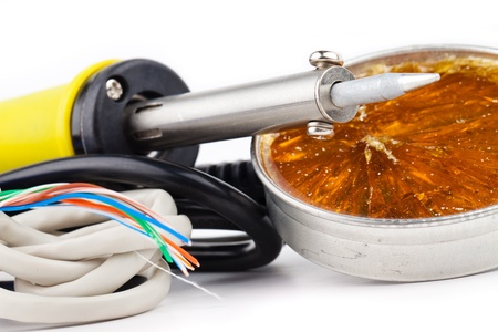 fusible: soldering equipment isolated on white