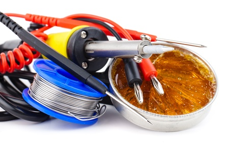 brazing: soldering equipment isolated on white