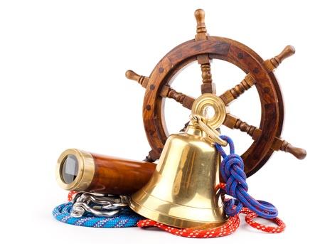 maritime adventure -marine equipment symbols isolated on white background
