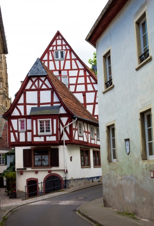 half timbered: Classic view of Meisenheim town, Germany