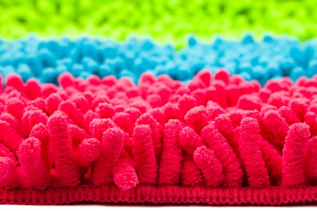 colorful microfiber mop strands  Stock Photo - 18472304