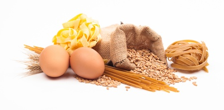 pasta assortment on white background Stock Photo - 18166389