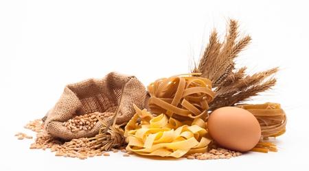 pasta assortment isolated on white background Stock Photo - 18166435