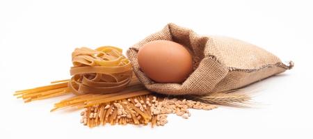 pasta assortment on white background Stock Photo - 18166363