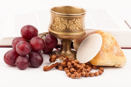 communion wafer: holy bread Stock Photo
