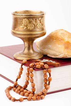 catholic mass: holy bread Stock Photo