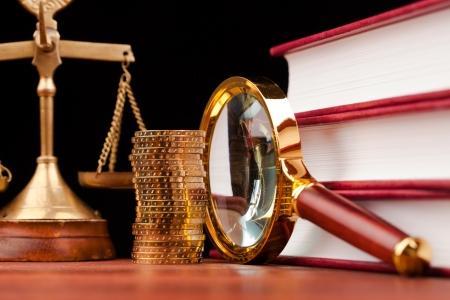justice court: money concept Stock Photo