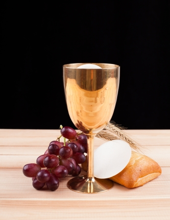 holy eucharist: holy bread Stock Photo