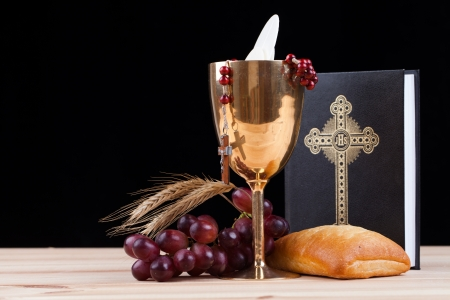 christian confirmation: holy bread Stock Photo