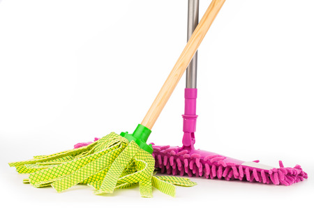 scouring: cleaning equipment isolated on white