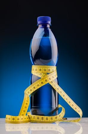 water power: fitness  bottle of water