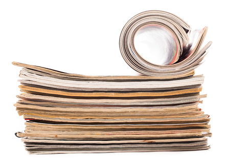 gazette: pile of newspapers