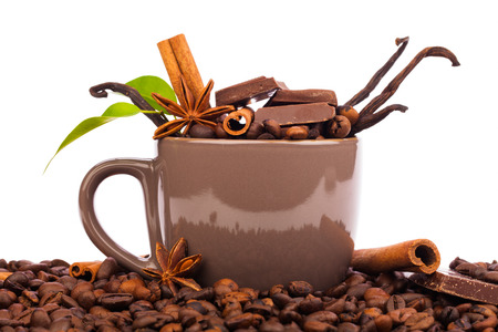 cin:  cup and coffee beans