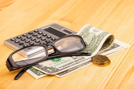 reading glasses and money photo