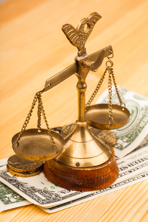 money and scales of justice photo