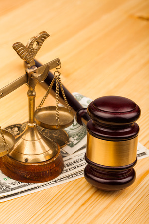 law  gavel and money photo