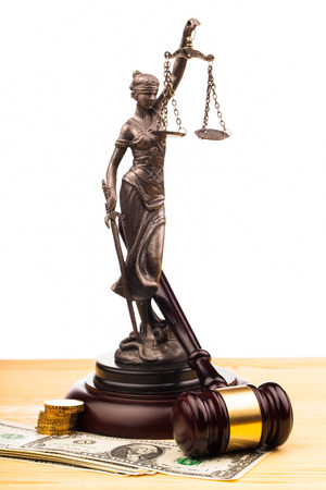 law  gavel lady of justice and money photo