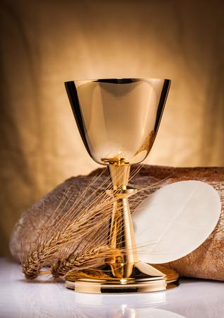 worship service: holy communion Stock Photo