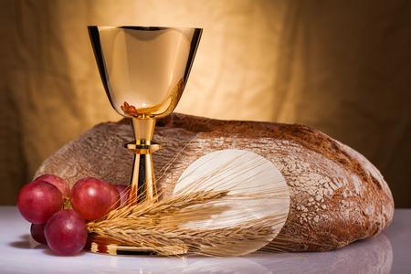 preach: holy communion Stock Photo