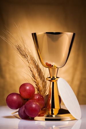 chaplain: holy communion Stock Photo