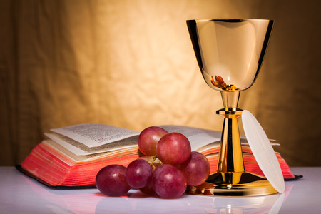 holy eucharist: holy communion Stock Photo