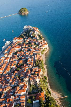 aerial view of croatia coast line Rab island Banco de Imagens