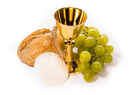 Heilige communie geïsoleerd op wit Stockfoto - 32307336