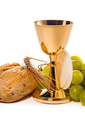holy communion isolated on white photo