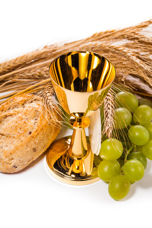 holy communion isolated on white photo