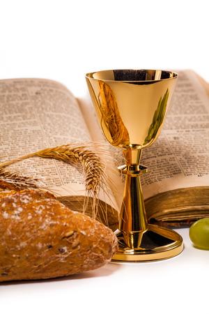 chaplain: holy communion isolated on white