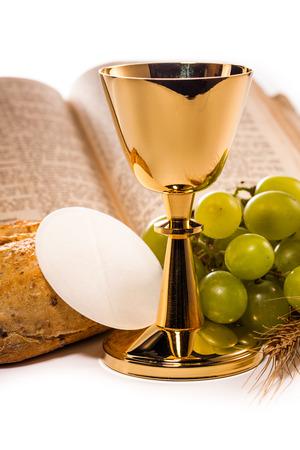liturgy: holy communion isolated on white