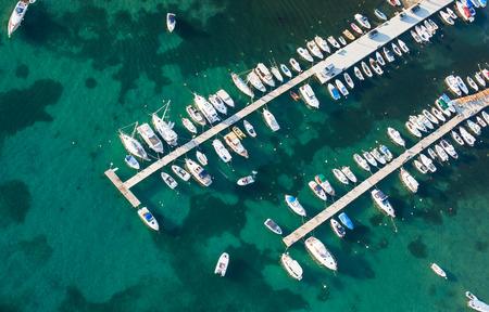 aerial view of croatia coast line Rab island photo