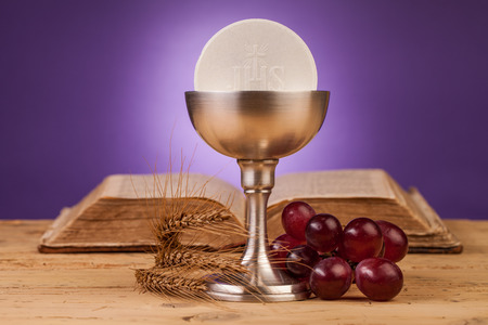 Eucharistie, sacrement de la sainte communion Banque d'images - 34734152