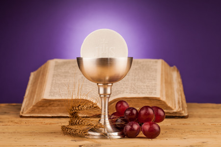 catholic mass: Eucharist, sacrament of  holy communion