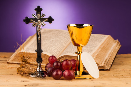 theology: Eucharist, sacrament of communion Stock Photo
