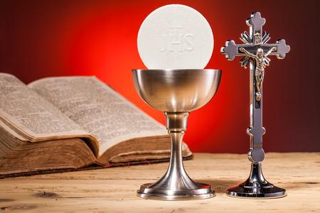 기독교 거룩한 친교 스톡 콘텐츠
